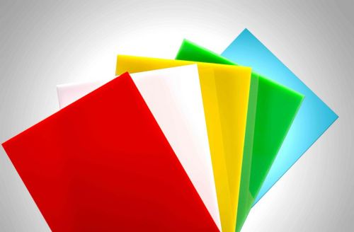 Colored solid sheets