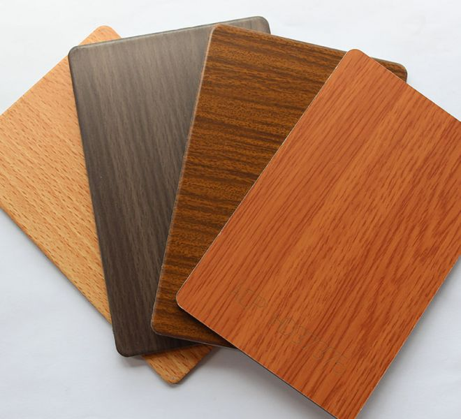 Aluminium composite panel with Wood grain coating