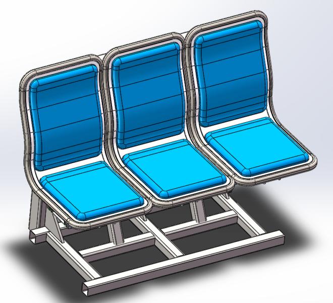 Aluminum honeycomb seat